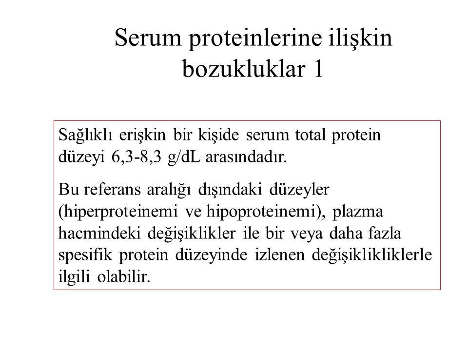 Serum proteinlerine ilişkin bozukluklar 1