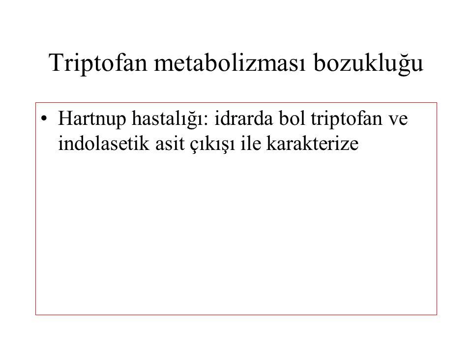 Triptofan metabolizması bozukluğu