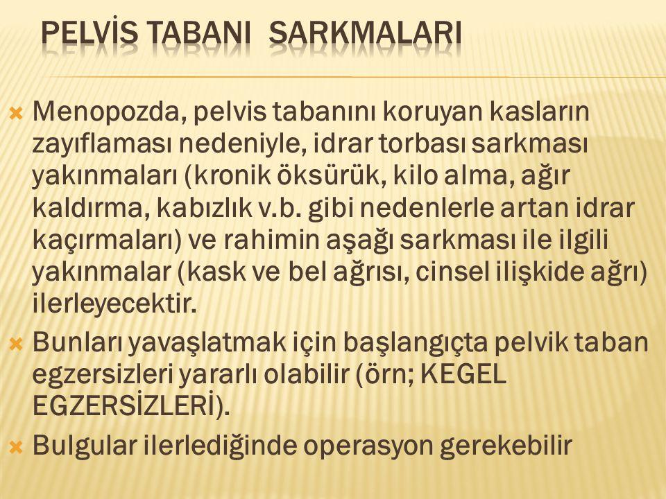 PELVİS TABANI SARKMALARI
