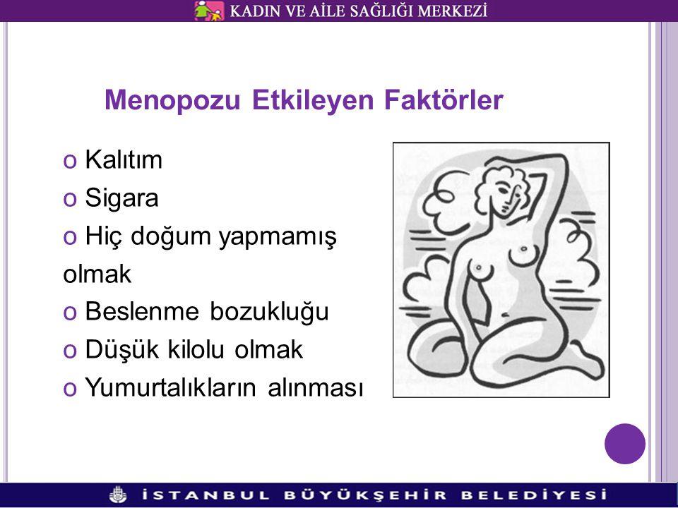Menopozu Etkileyen Faktörler