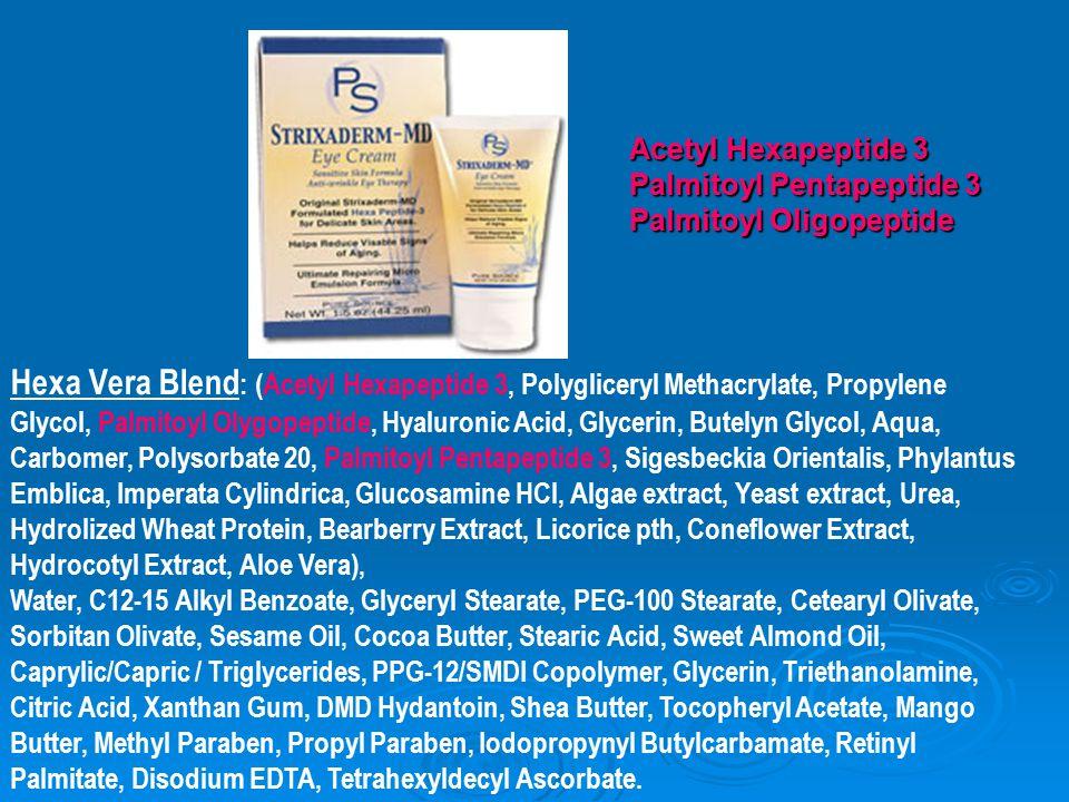 Acetyl Hexapeptide 3 Palmitoyl Pentapeptide 3. Palmitoyl Oligopeptide.