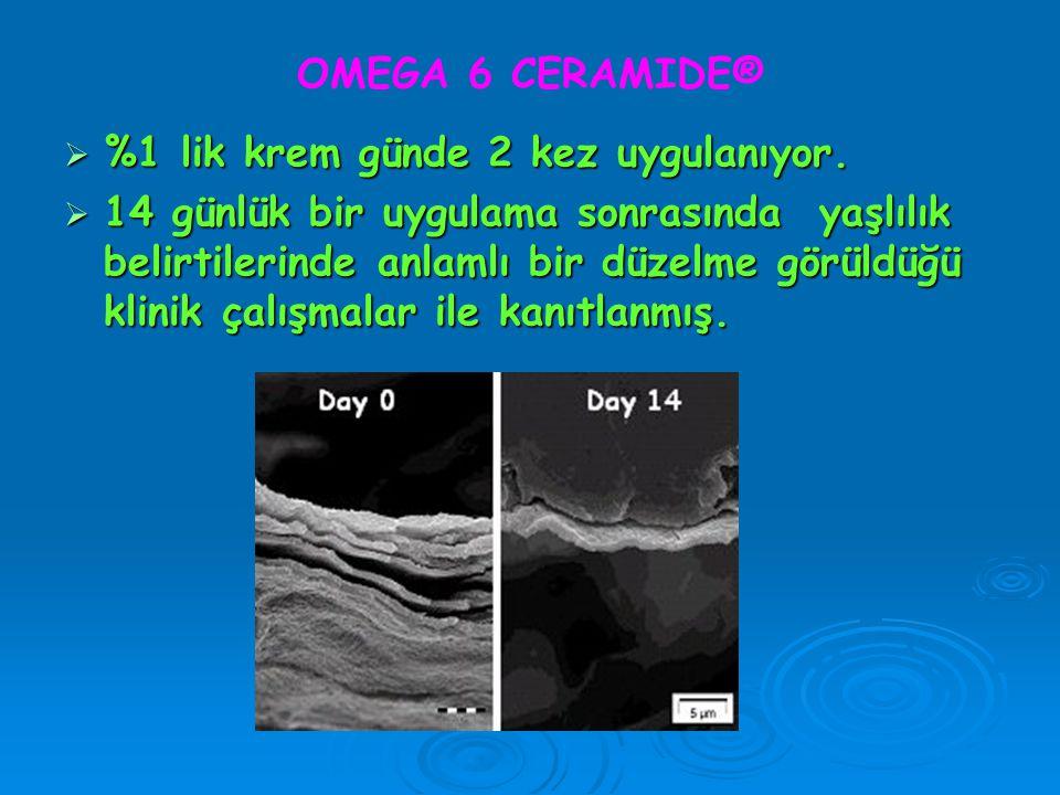 OMEGA 6 CERAMIDE® %1 lik krem günde 2 kez uygulanıyor.