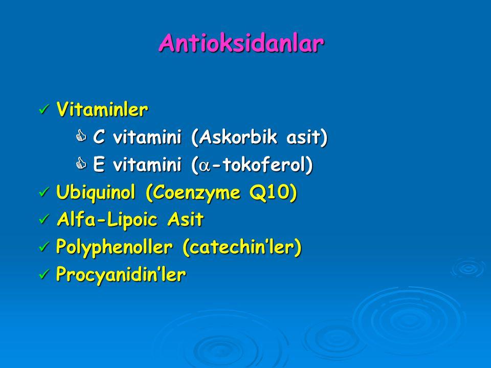 Antioksidanlar Vitaminler  C vitamini (Askorbik asit)