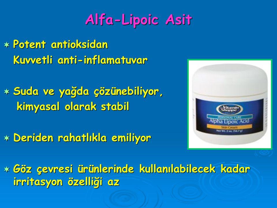 Alfa-Lipoic Asit Potent antioksidan Kuvvetli anti-inflamatuvar