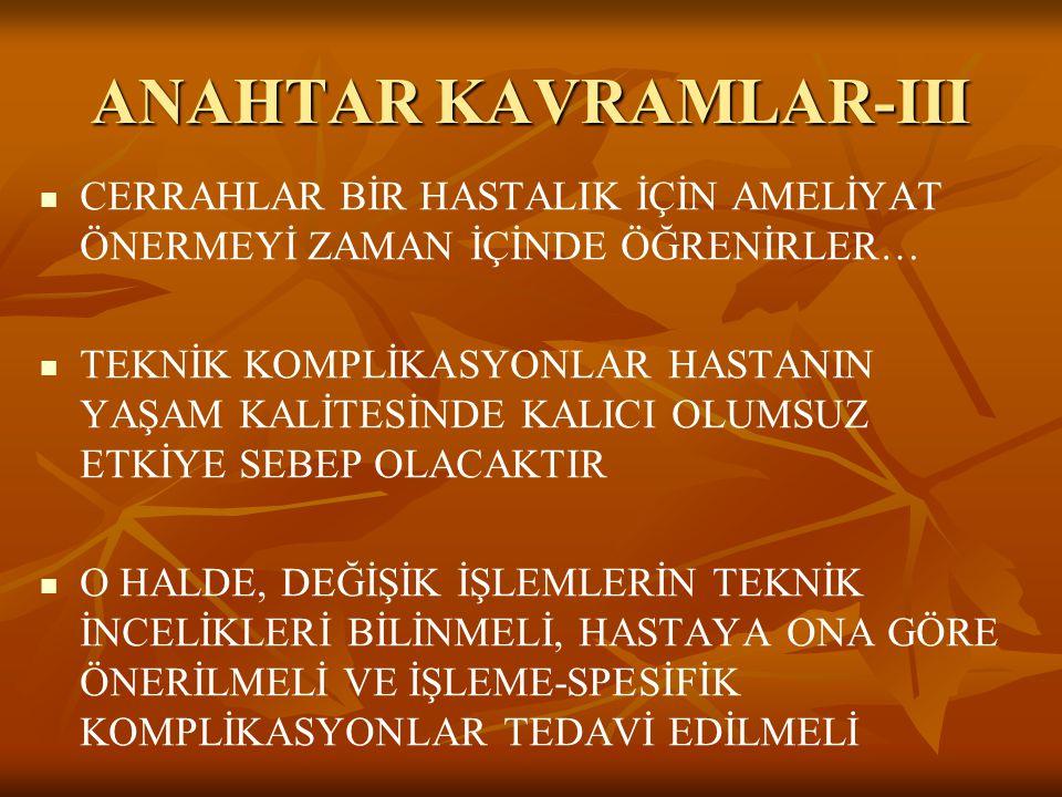 ANAHTAR KAVRAMLAR-III
