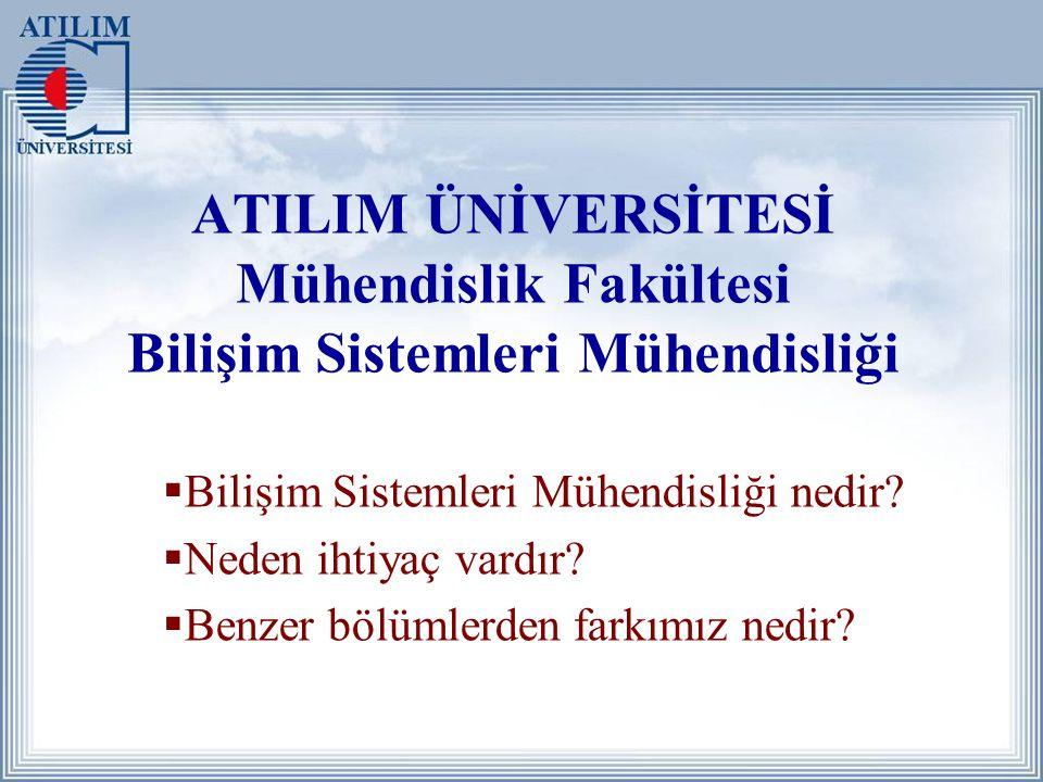 ATILIM ÜNİVERSİTESİ Mühendislik Fakültesi Bilişim Sistemleri Mühendisliği