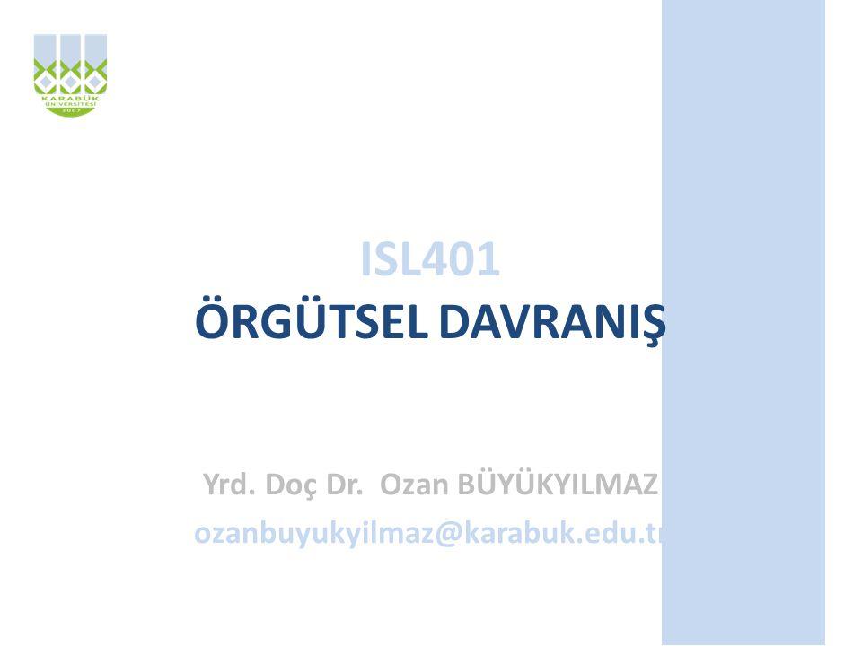 Yrd. Doç Dr. Ozan BÜYÜKYILMAZ ozanbuyukyilmaz@karabuk.edu.tr
