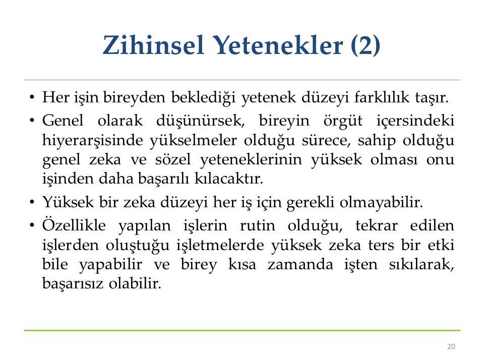 Zihinsel Yetenekler (2)
