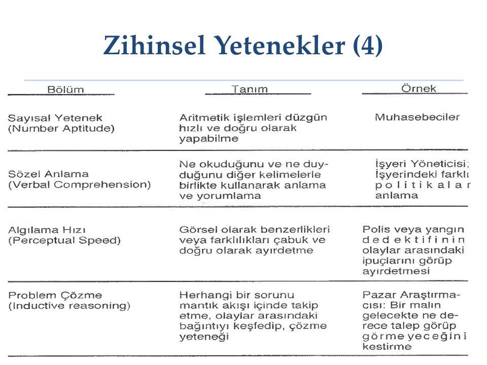 Zihinsel Yetenekler (4)