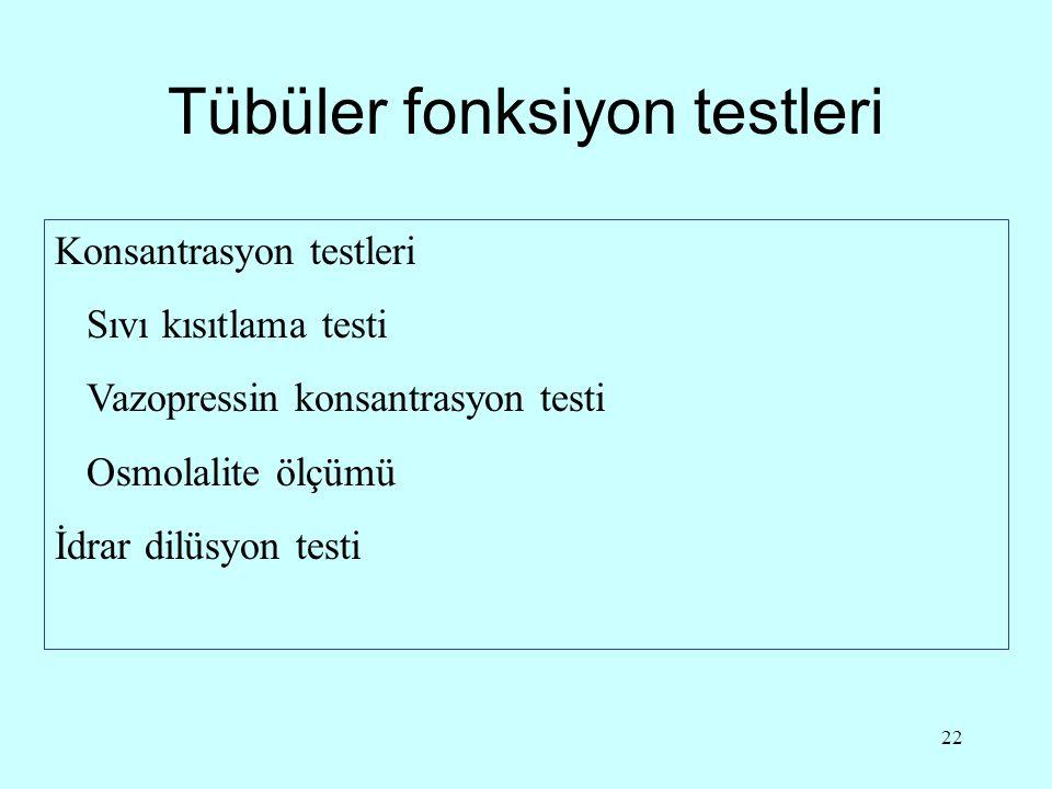 Tübüler fonksiyon testleri