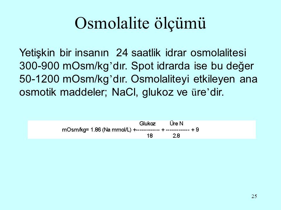 Osmolalite ölçümü
