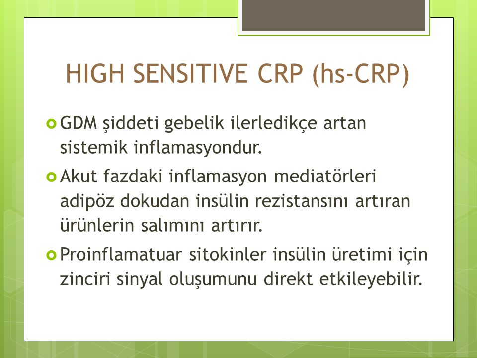 HIGH SENSITIVE CRP (hs-CRP)