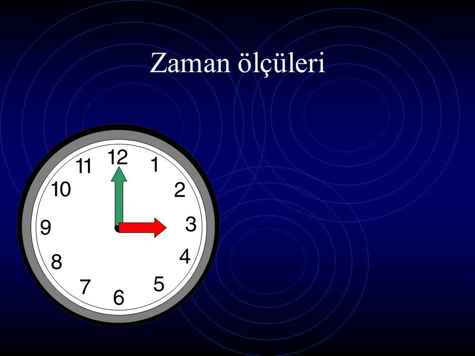 Zaman ölçüleri