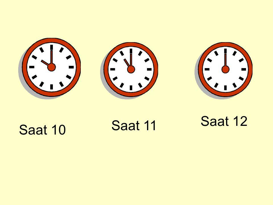 Saat 12 Saat 11 Saat 10