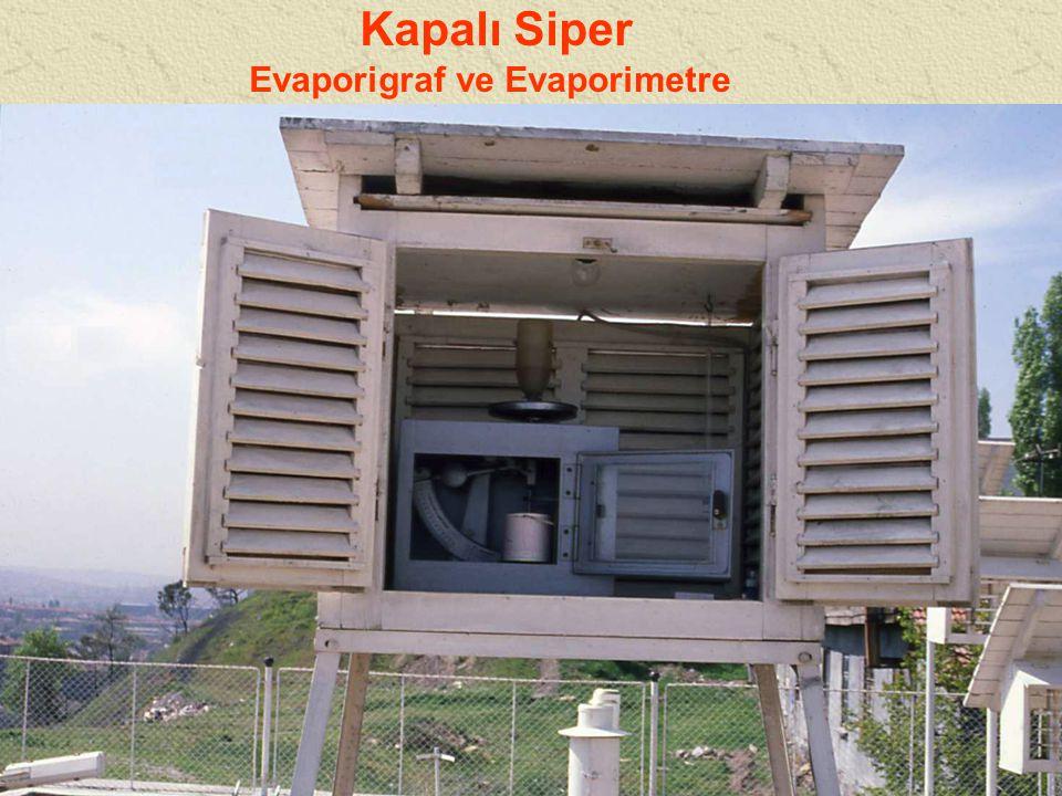 Evaporigraf ve Evaporimetre