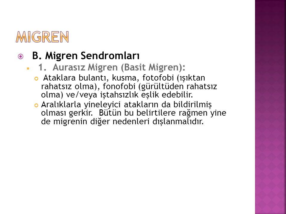 migren B. Migren Sendromları