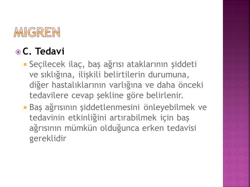migren C. Tedavi