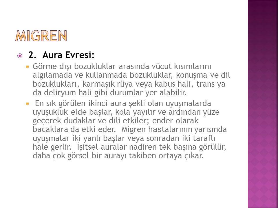 migren 2. Aura Evresi: