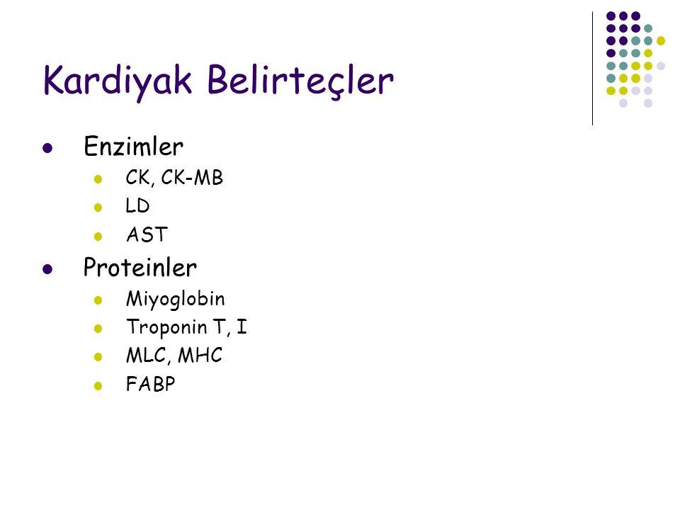 Kardiyak Belirteçler Enzimler Proteinler CK, CK-MB LD AST Miyoglobin