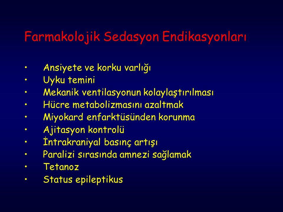 Farmakolojik Sedasyon Endikasyonları