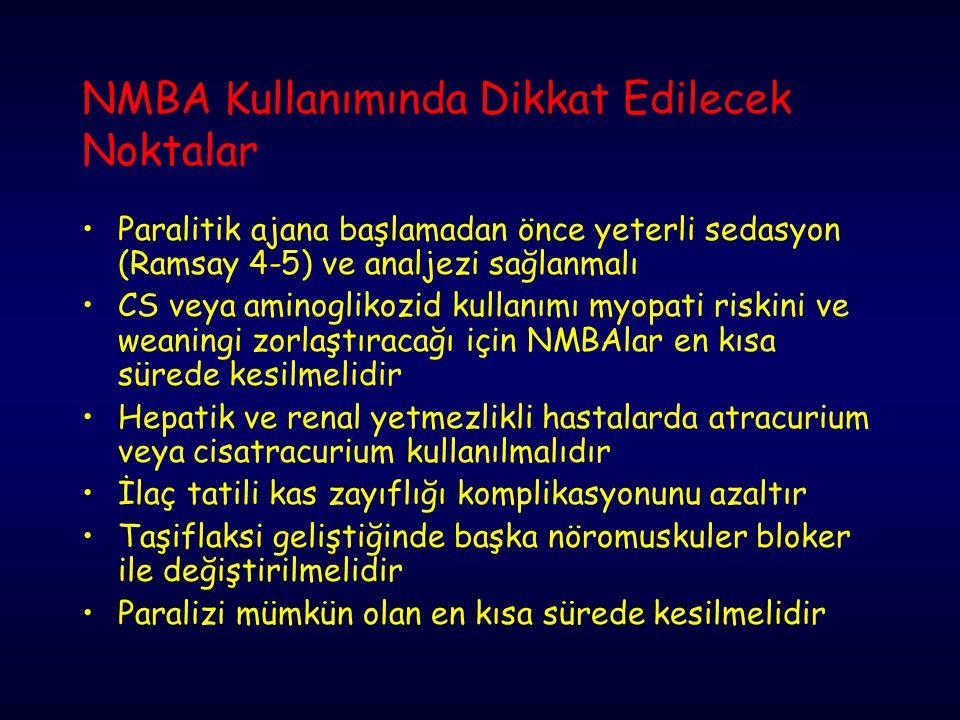 NMBA Kullanımında Dikkat Edilecek Noktalar