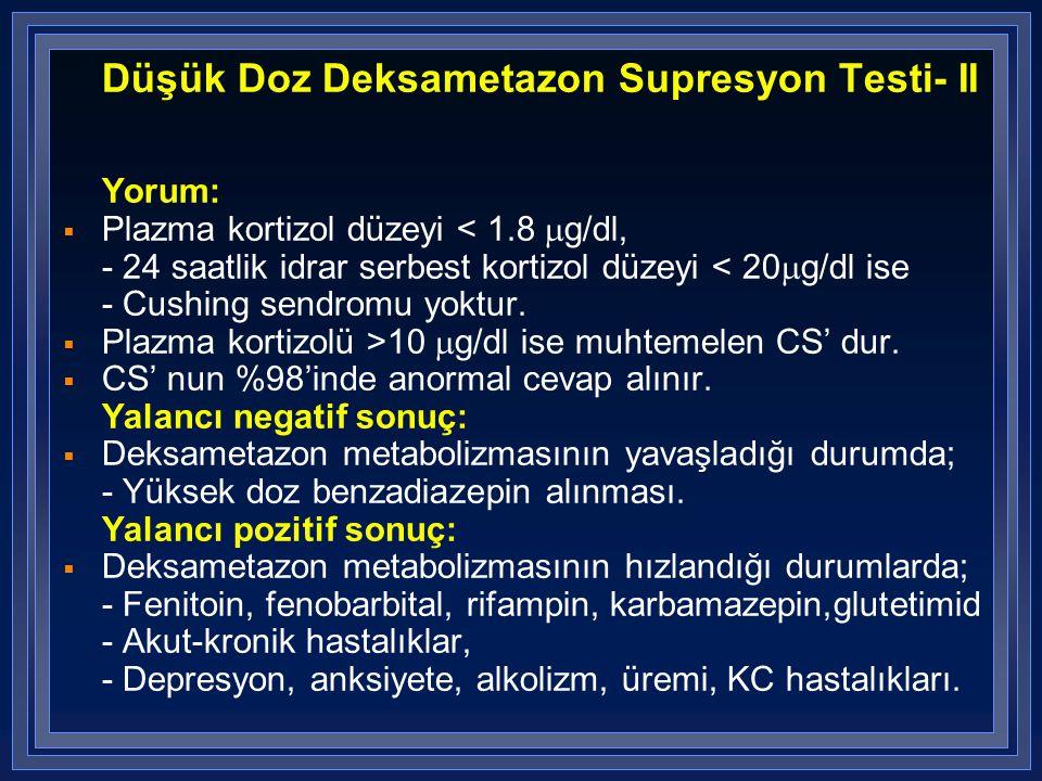 Düşük Doz Deksametazon Supresyon Testi- II