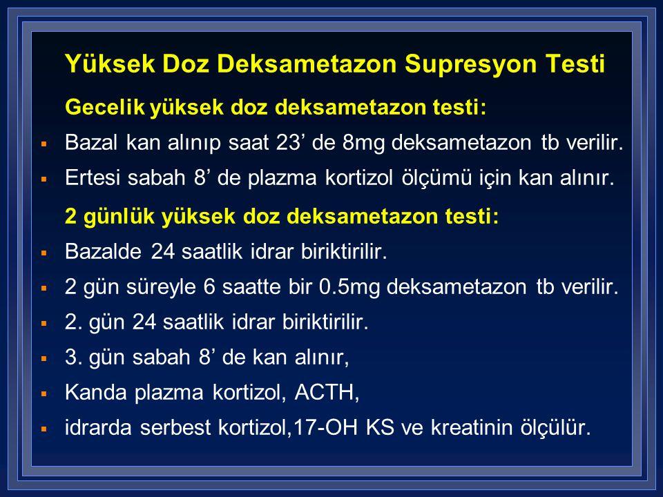 Yüksek Doz Deksametazon Supresyon Testi