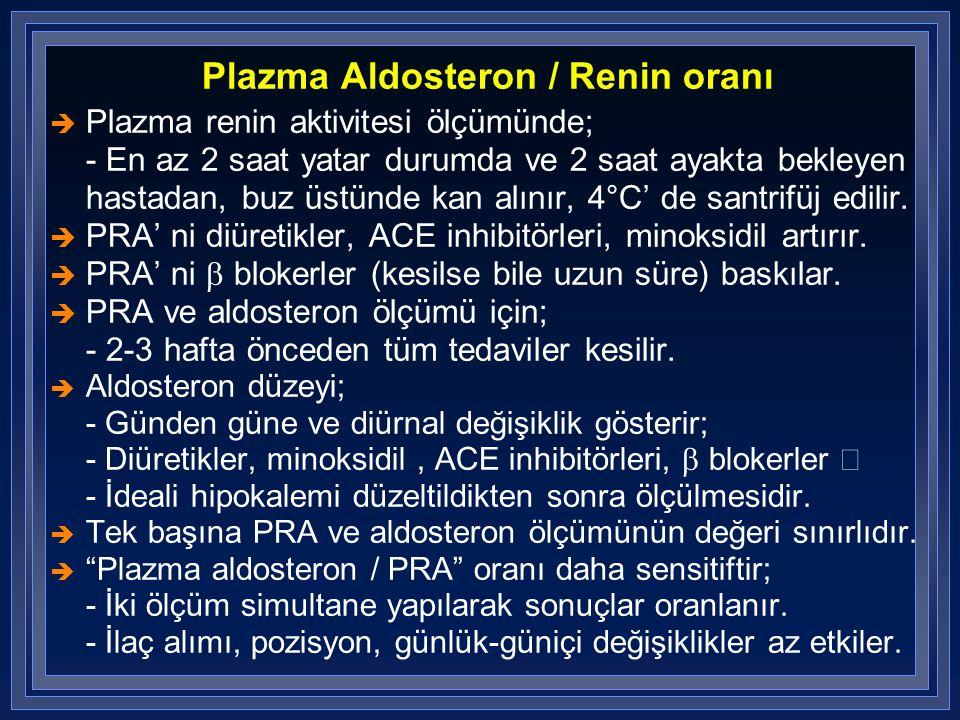 Plazma Aldosteron / Renin oranı