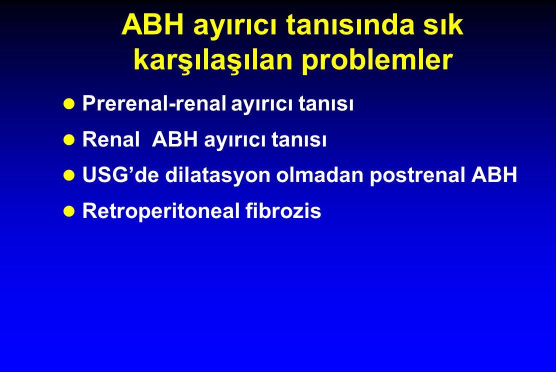 ABH ayırıcı tanısında sık karşılaşılan problemler