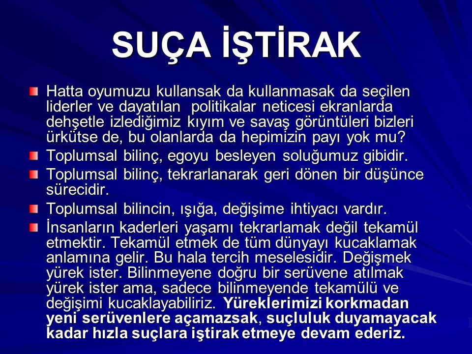 SUÇA İŞTİRAK