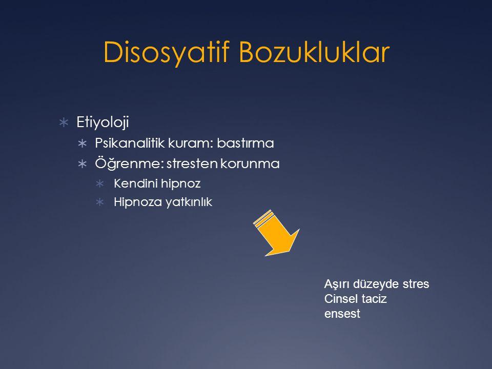 Disosyatif Bozukluklar