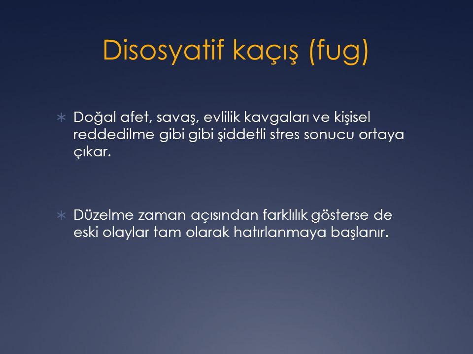Disosyatif kaçış (fug)