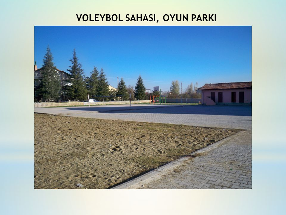 VOLEYBOL SAHASI, OYUN PARKI
