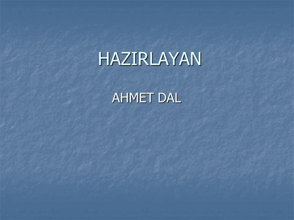 HAZIRLAYAN AHMET DAL