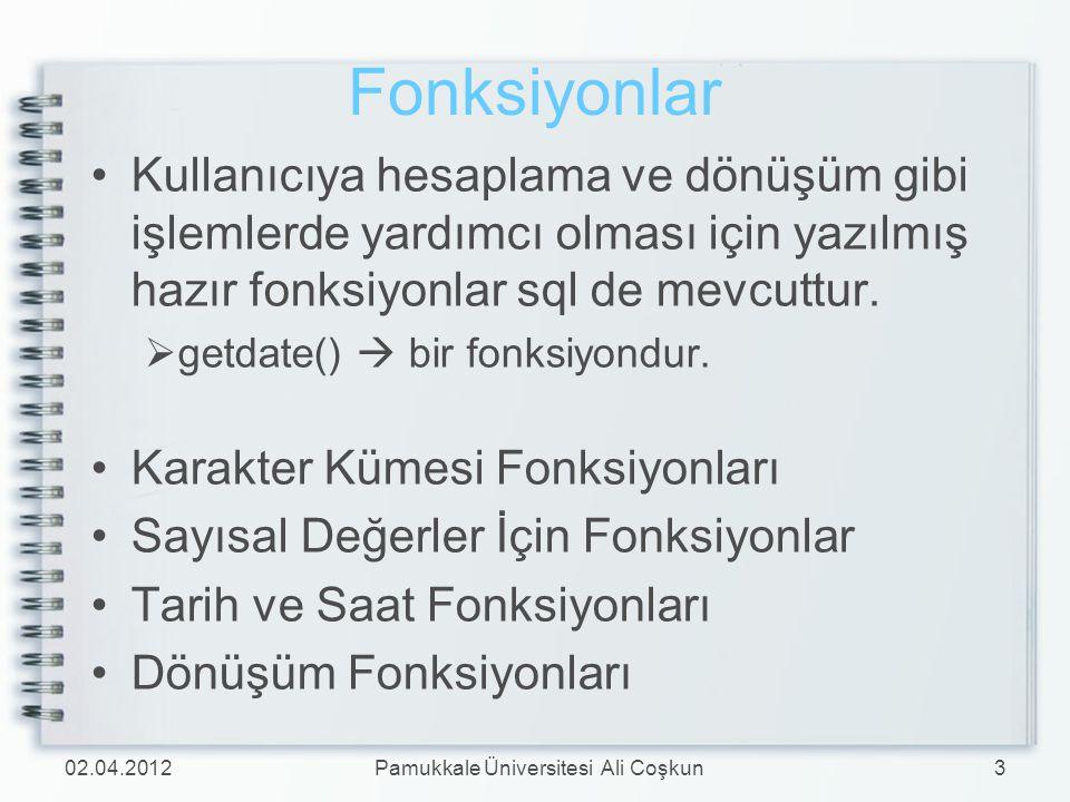 Pamukkale Üniversitesi Ali Coşkun