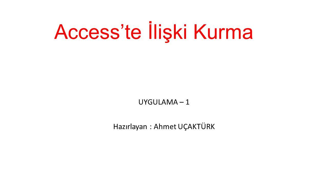 Access'te İlişki Kurma