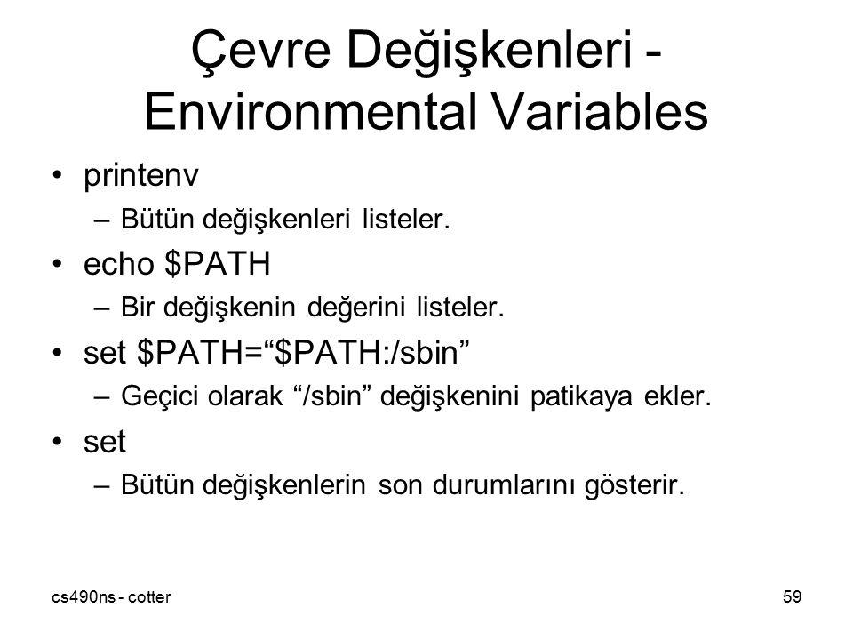 Çevre Değişkenleri - Environmental Variables