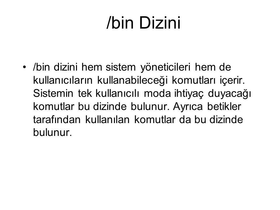 /bin Dizini