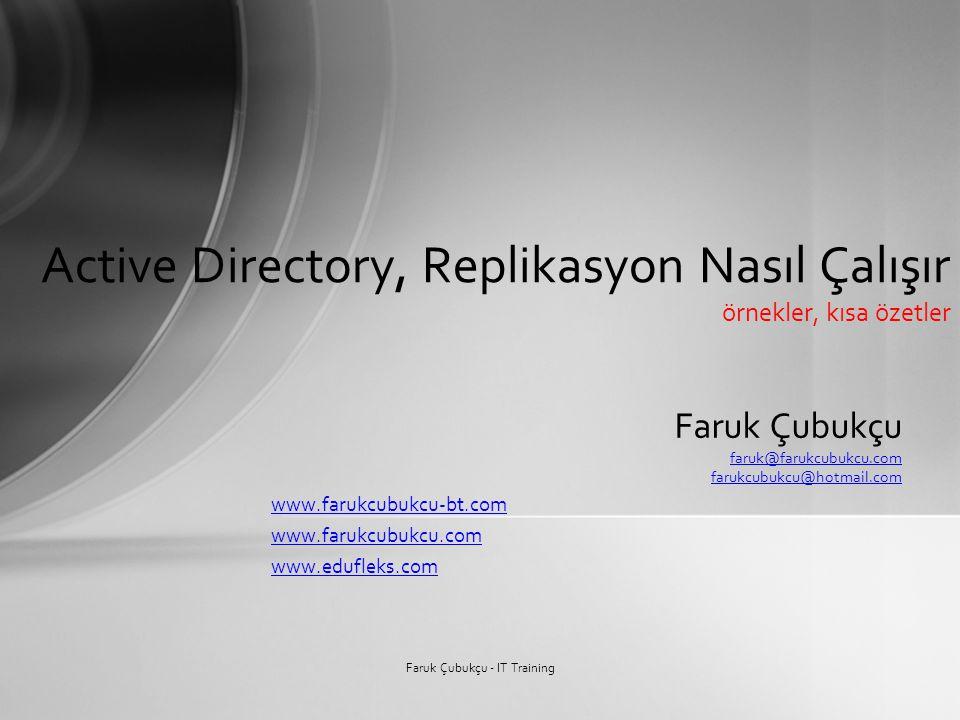 Active Directory, Replikasyon Nasıl Çalışır örnekler, kısa özetler