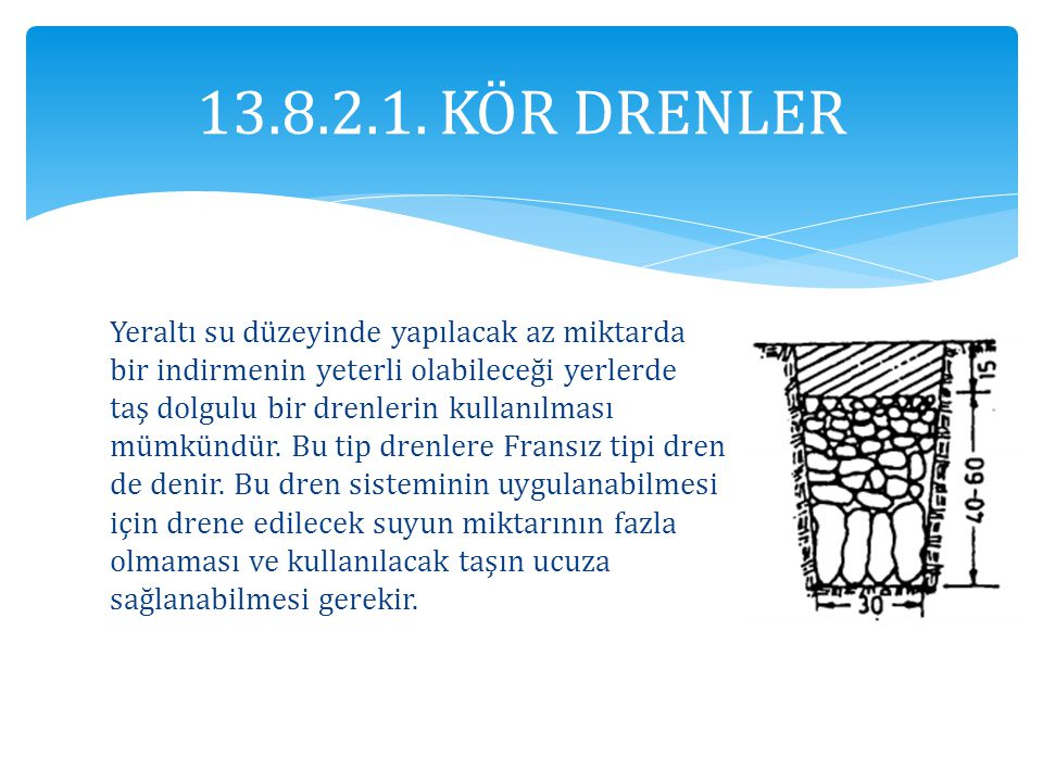 13.8.2.1. KÖR DRENLER