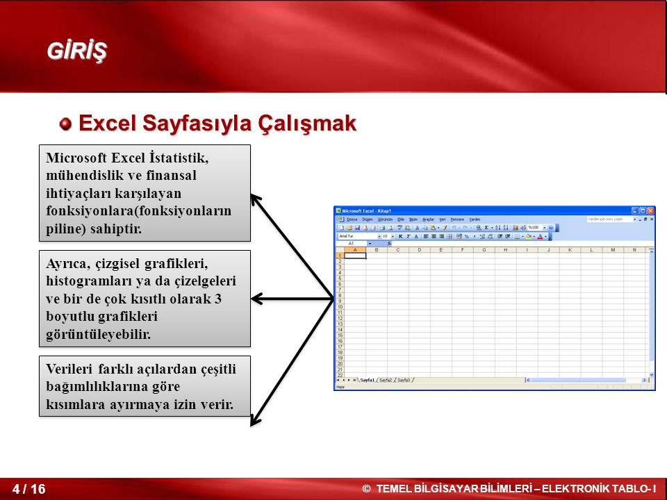Excel Sayfasıyla Çalışmak