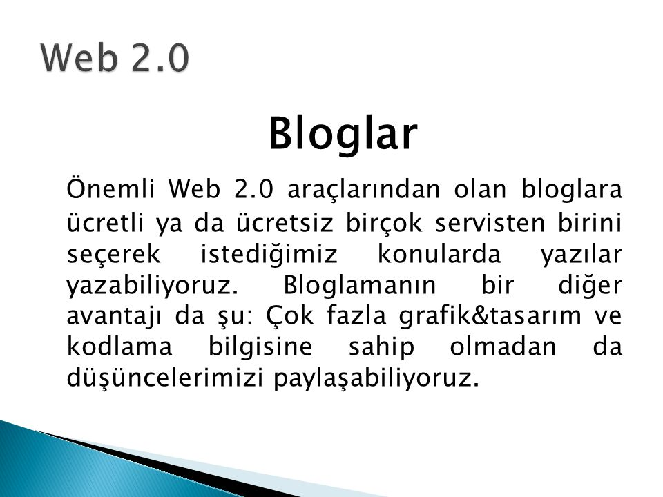 Web 2.0 Bloglar.