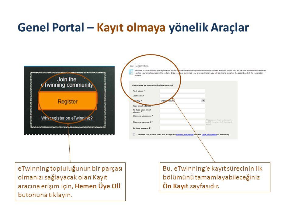 Genel Portal – Kayıt olmaya yönelik Araçlar