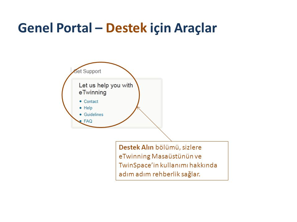 The Public Portal – Tools for Support