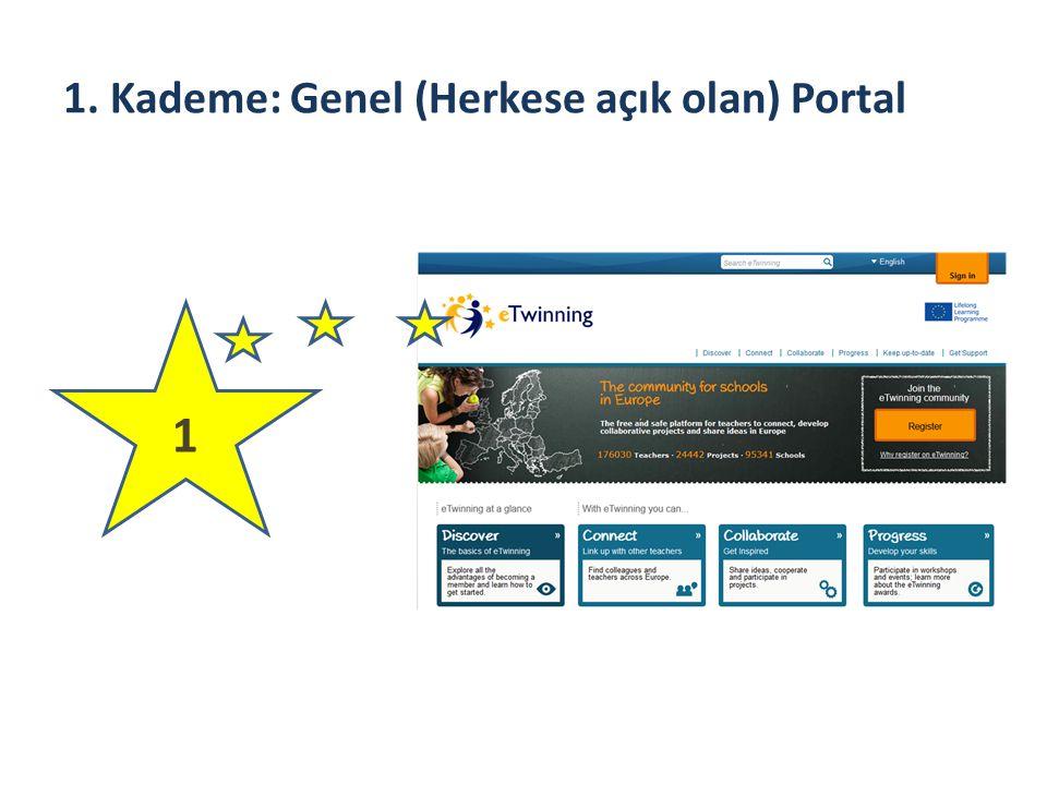1. Kademe: Genel (Herkese açık olan) Portal