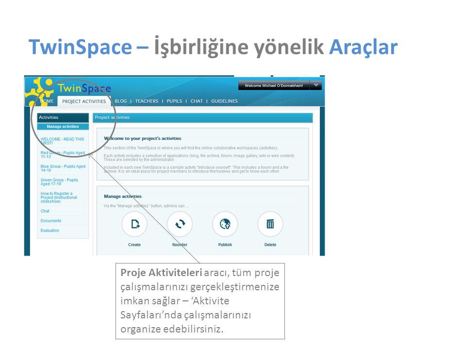 TwinSpace – İşbirliğine yönelik Araçlar