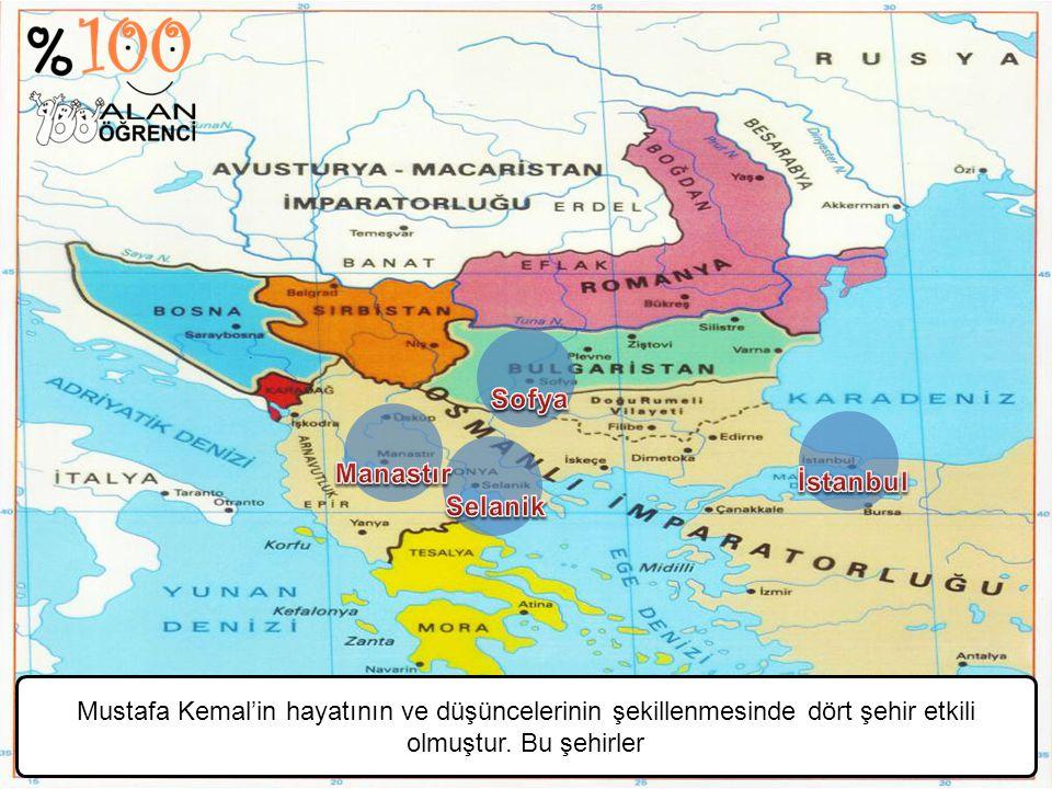 Sofya Manastır. İstanbul. Selanik.