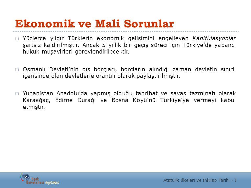 Ekonomik ve Mali Sorunlar
