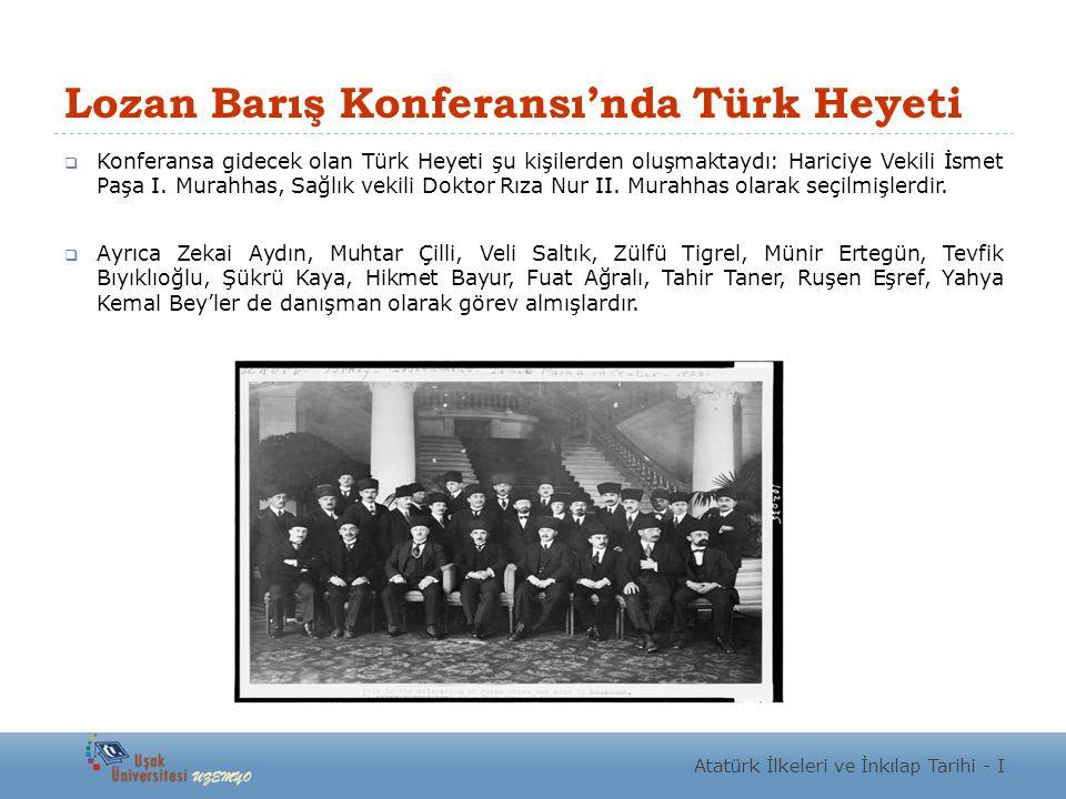 Lozan Barış Konferansı'nda Türk Heyeti
