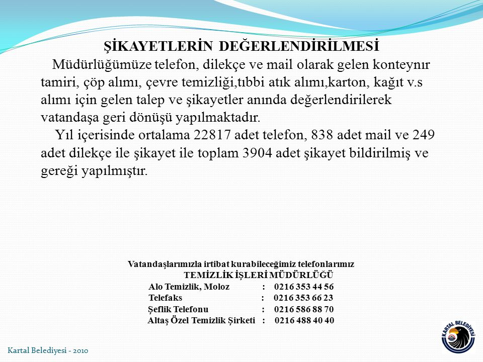 Altaş Özel Temizlik Şirketi : 0216 488 40 40